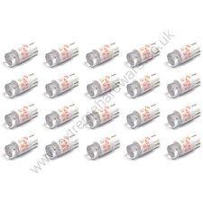 20 X 5v 10mm T10 base cuña roja Bombillas LED Para Pulsadores-Mame Arcade