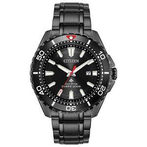 Citizen Eco-Drive Promaster Diver Men's Black Ion Plated 45mm Watch BN0195-54E