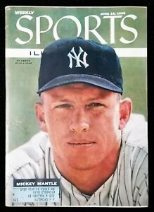 1956 Mickey Mantle Sports Illustrated Vintage Magazine in Excellent Condition