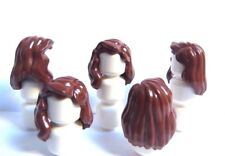 Lego 5 Hair Wig For Girl Female Minifigure Figure Long Brown  Wavy