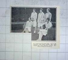 1928 Lady Lawn Tennis Lights, Peggy Saunders, Betty Nuthall, Eileen Bennett