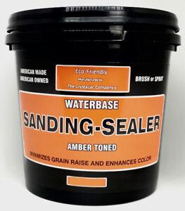 Crystalac Water Based Amber Sanding Sealer - 1 Quart