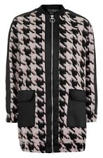 Topshop Houndstooth Coat Jacket Size Uk8 Eur36 Us4
