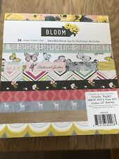 "6x6"" PAPER PAD PACK ""BLOOM"" 3/4 SHEETS USED CARD MAKING CRAFT BIRTHDAY PRETTY"