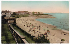 BATHING BEACH FROM HOTEL PRESTON Beach Bluff MASSACHUSETTS - 1935 POSTCARD