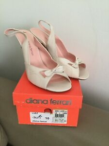 Women's Size 10  White Nude Colour Diana Ferrari Brand New In Box RRP $109.95