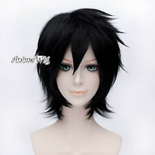 Anime for Bleach Ulquiorra Schiffer Black Short Layered Halloween Cosplay Wig