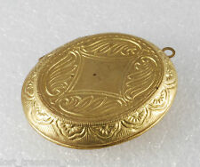 Vintage Raw Brass Metal Perfume Locket Decorative 51mm x 39mm