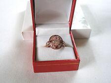 2.84 Ct. Kunzite Solitaire, Rhodolite Garnet & Diamond  10K Rose Gold Ring