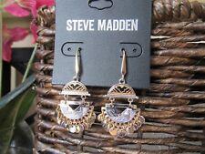 NWT Steve Madden Tribal Gone Wild Metal Tribal Dangle Drop Chandelier Earrings