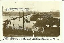 Barrow - in - Furness , Walney Bridge , 1912 -  The Francis Firth Collection