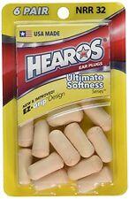 6 Pack - Hearos Ear Plugs Ultimate Softness Series, 6 Pairs Each