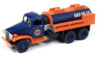 Gulf Oil 1940's GMC 6X6 Tanker Blue Orange JOHNNY LIGHTNING DIE-CAST 1:87 HO