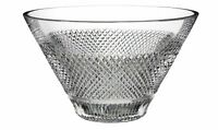 Waterford Diamond Line Crystal Bowl. New in Box. STUNNING Classic Modern Crystal