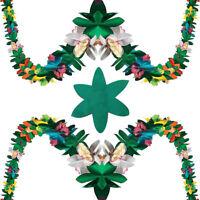 Garland Tropical Hawaiian Luau Party Decorations Flowers Tissue Flower Decor WH1