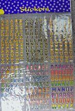 2 Pages Alphabet Stickers (6 sets per page) - Schools, Scrap Books & Note Pads
