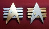 Star Trek CAPTAIN ADMIRAL Communicator Pin Combadge TERRAN FUTURE IMPERFECT