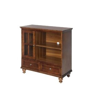 Convenience Concepts Tahoe Highboy TV Stand, Dark Walnut - 8067000DWN