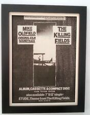 MIKE OLDFIELD*Killing Fields*1984*ORIGINAL*POSTER*AD*FRAMED*FAST WORLD SHIP