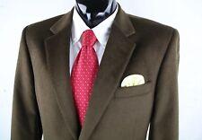 JOS A BANK (43R 44R) Mens Brown Wool Silk Corduroy Sport Coat