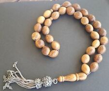 Prayer Beads Rosary, Tesbih, Masbaha - Brown Kuka Wood - HUGE 100g, Very old