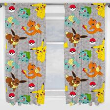 Pokemon Cortinas pikatchu Catch Niños POKEMONS Tapices 137x168 poke NUEVO