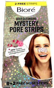 1 Biore Deep Cleansing Mystery Pore Strip 10 CT + freebies