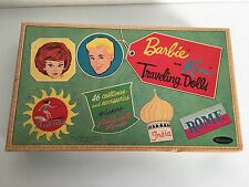 Near Mint Vintage 1962 Barbie Ken Traveling Dolls Paper Dolls 95% Uncut