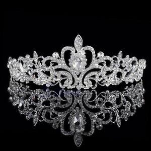 Bridal Rhinestone Crystal Princess Tiara Crown Wedding Prom Hair Accessories Hot