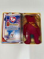 Ty Teenie Beanie Babies MILLENNIUM Bear, McDonald's CREW ONLY, 2000 - RARE