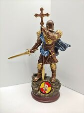 Bradford Exchange Armor Of Light Cold Cast Bronze Sculpture With Challenge Coin
