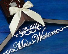 Personalized Wedding Hanger Bridal Hanger, Bride Name Hanger, Dress Hanger EL002
