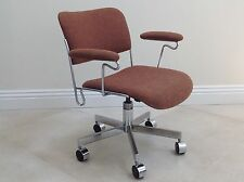 Vtg Mid-Century Modern Frank Doerner Office Chair Chrome Eames Knoll Steelcase