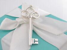 Tiffany & Co Silver Fleur De Lis Key Pendant For Necklace Box Included