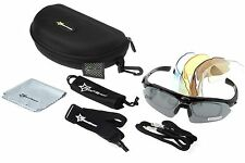 RockBros Polarized Bicycle Bike Glasses Goggles Sunglasses Black UV400