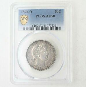 1892-O Barber Half Dollar KEY DATE Certified AU50 PCGS