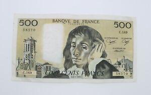 billet 500 francs Pascal 6-1-1983