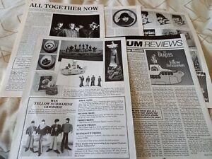 BEATLES Yellow Submarine 1999 interview article / photos, George, Paul, Ringo