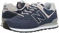 New Balance Mens ml574 Low Top Lace Up Walking Shoes, Navy, Size 11.5