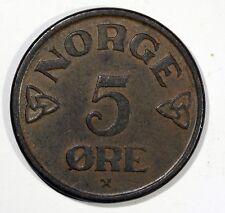 Norvège, Haakon VII, 5 Öre, 1956, TTB, Bronze, KM:400 AH63