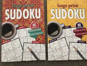 Brand New Set Of 2 Papp  Large Print Sudoku Puzzle  Magazine size -Vol 23/ 26