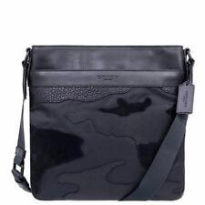 Coach Men's Charles Mixed Materials Matte Black/Black Crossbody Bag F11588