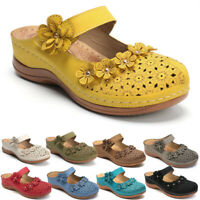 Ladies Women Flatform Summer Sliders Slip On Mule Beach Wedge Heels Sandals Shoe