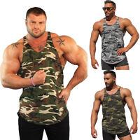 BODYBUILDING TANK TOP GYM STRINGER WORKOUT VEST SINGLET Men Fitness shirt