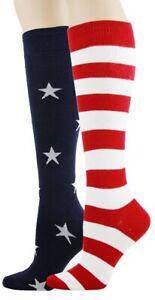Stars and Stripes Foot Traffic Women's Knee High Socks New Novelty Flag Fashion