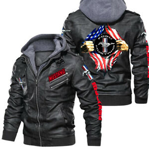 Mustang - Faux Leather Jacket, Winter Outer Wear Gift-Best Gift