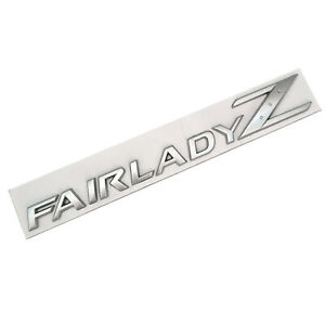 Matte Silver FAIRLADY Z Letters Trunk Lid Emblem Nameplate for NISSAN 350Z 370Z