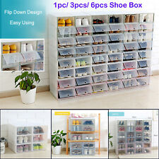 Shoe Organizer Drawer Transparent Plastic Storage Rectangle Thicken Shoes Boxes