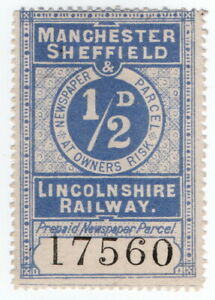 (I.B) Manchester, Sheffield & Lincolnshire Railway : Newspaper Parcel ½d
