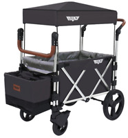 Keenz 7S Twin Baby Double Stroller Wagon Easy Fold W Canopy and Bag Black NEW